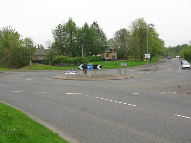Roundabout on Hurlet Road (A726), Paisley