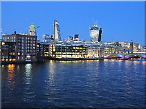 TQ3280 : City of London twilight with Vintners Place by David Hawgood