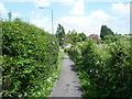 TQ2861 : Path alongside Woodmansterne Lane by Marathon