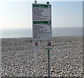ST0966 : Welcome and warnings, Cold Knap, Barry by Jaggery