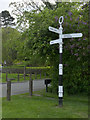 SK6435 : Fingerpost, Cotgrave Cross by Alan Murray-Rust