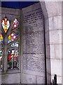 NO5298 : WW1 memorial panel, Aboyne & Glen Tanar by Stanley Howe