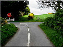 H7481 : Road junction, Muntober by Kenneth  Allen
