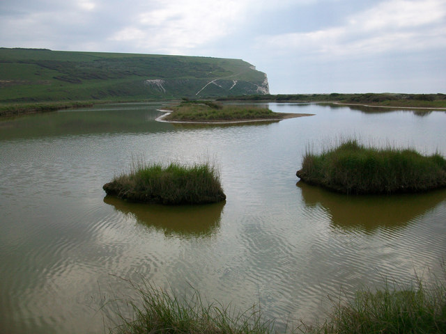 Saline lagoon at Cuckmere Haven