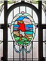 SJ8595 : Stained Glass Panel, Victoria Baths by David Dixon