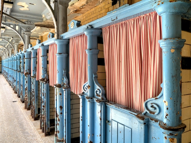 Cast Iron Changing Cubicles, Victoria Baths