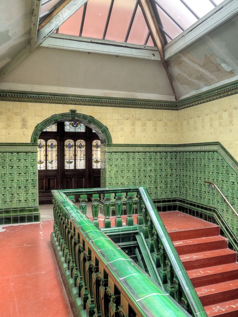 Victoria Baths, Stairs and Landing to Males 1st Class Pool