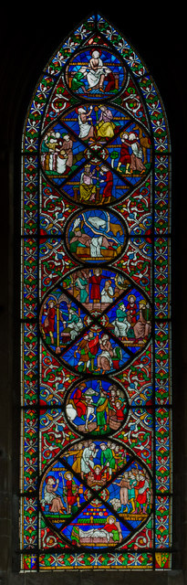 Stained glass window s.XXXVII, Lincoln Cathedral