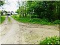 SU9804 : Path junction by Marsh Farm by Shazz