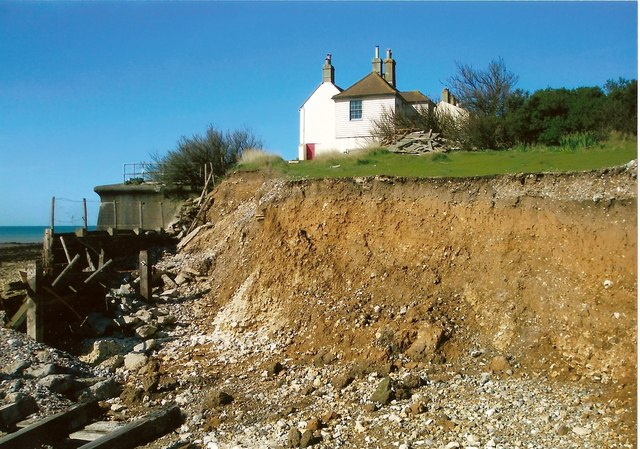 Recent erosion at Cuckmere Haven