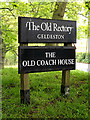TM3992 : The Old Rectory & The Old Coach House signs by Adrian Cable