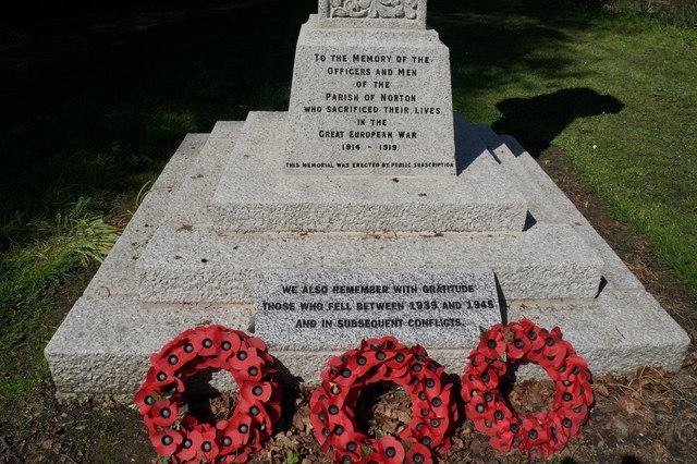Norton war memorial, Norton, Sheffield