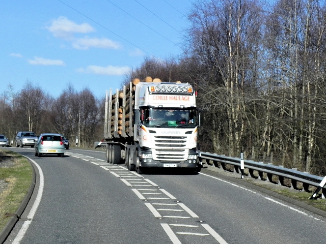 Haulage Truck on the A82
