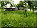 TM4197 : Yarmouth Road sign by Adrian Cable