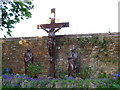 TQ3964 : Calvary figures at the Emmaus centre by Stephen Craven