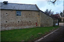 SP1726 : Wall of a barn, Upper Swell Farm by Peter Barr
