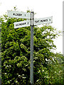 TM4394 : Roadsign on Elms Road by Adrian Cable