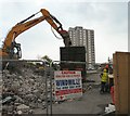 SJ9594 : Car Park Demolition by Gerald England