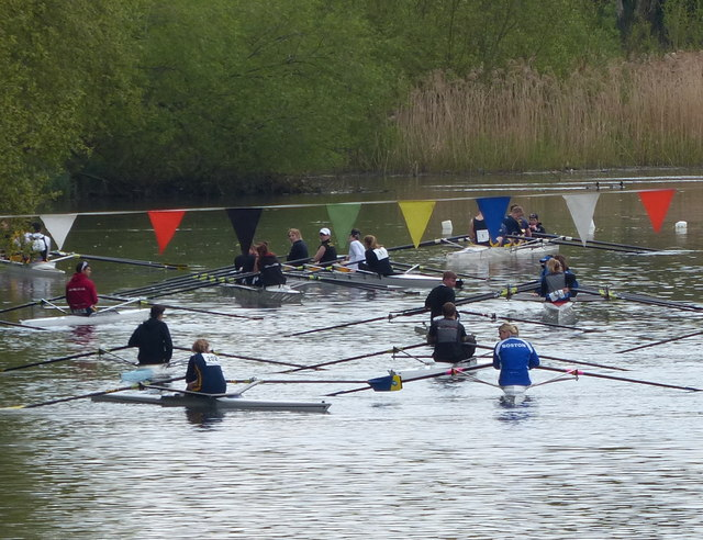 Rowers on the Grand Union Canal