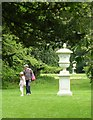 TL0934 : Wrest Park - Urns in the Great Garden by Rob Farrow