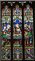 SK9070 : Stained glass window, St Peter's church, Doddington by J.Hannan-Briggs