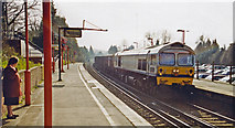 TQ5359 : Otford station, with Class 59 Diesel, 2000 by Ben Brooksbank