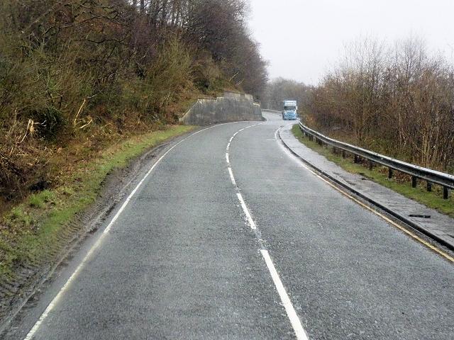 A85 Running Between Ben Cruachan and Loch Awe