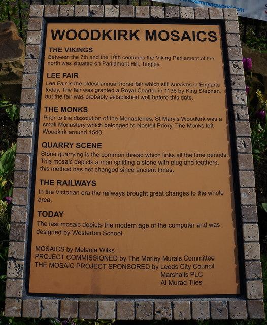 The Woodkirk Mosaics, on Leeds Road