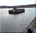 ST1167 : Artificial island in Barry Dock by Jaggery
