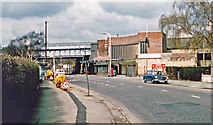 TQ1683 : Perivale: entrance to London Underground station, 1978 by Ben Brooksbank