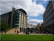 SK3587 : Sheffield: Millennium Square from the Peace Garden by Chris Downer
