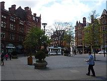 SK3587 : Sheffield: plaza alongside Pinstone Street by Chris Downer