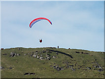 NS2472 : Paraglider near Dunrod Hill by Thomas Nugent