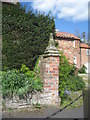 SE8058 : Gate pillar at the Old Rectory by Jonathan Thacker