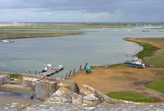 Jetty and Inlet at Hurst Castle