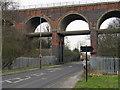 SE8710 : Viaduct crossing Scotter Road by Trevor Littlewood