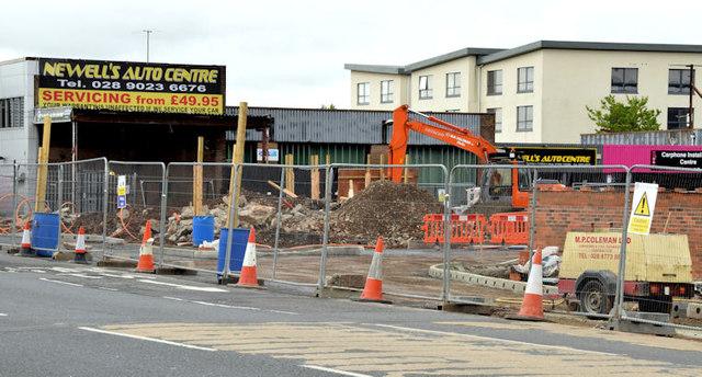 Broadway development site, Belfast (May 2014)