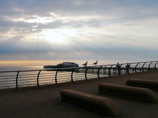 Evening view near North Pier