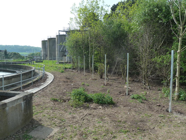 Claymills Sewage Works - new fence line