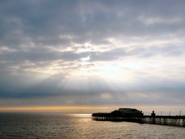 A tranquil evening at Blackpool North Pier