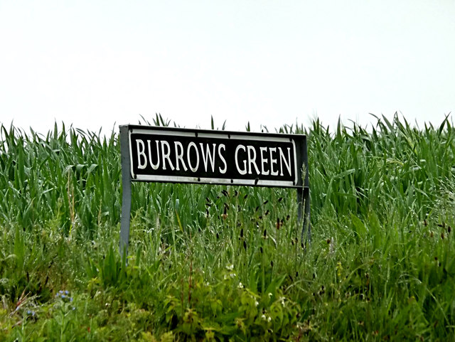Burrows Green sign