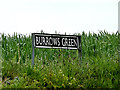 TM4494 : Burrows Green sign by Adrian Cable