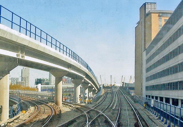 Docklands Light Railway, east of Poplar station 2010
