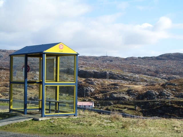 Bus shelter by the Golden Road