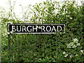 TM4794 : Burgh Road sign by Adrian Cable