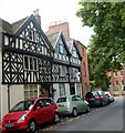 SO5074 : Two black and white houses in Dinham, Ludlow by Jaggery