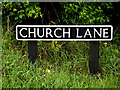 TM4993 : Church Lane sign by Adrian Cable