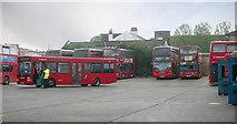 TQ3772 : Catford bus garage by David Kemp