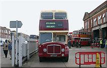 TQ3772 : Vintage bus at Catford bus garage by David Kemp
