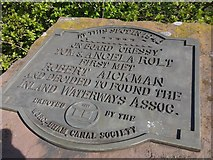 SO9969 : Commemorative plaque, Tardebigge Top Lock by Christopher Hall